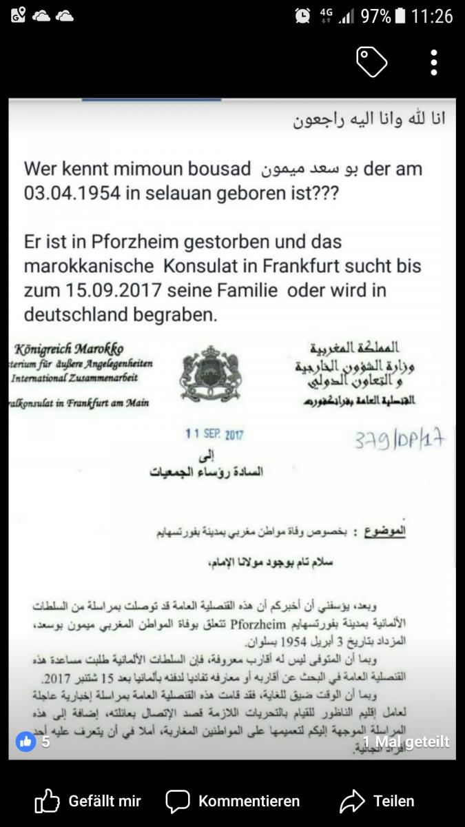 Was braucht man für papiere zum heiraten in marokko